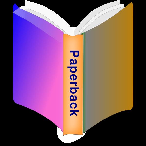 Paperback book icon vector image
