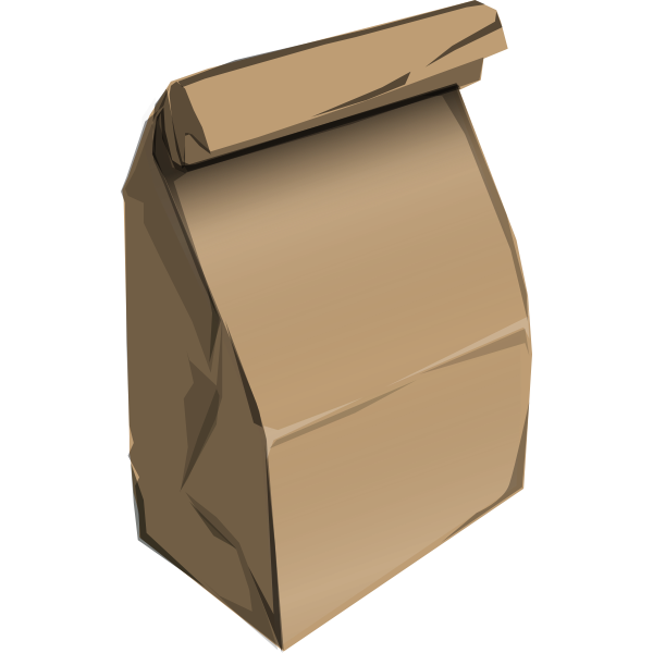 Vector drawing of fast food recyclable paper bag