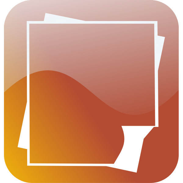 Glossy smartphone icon for wordprocessing document vector image
