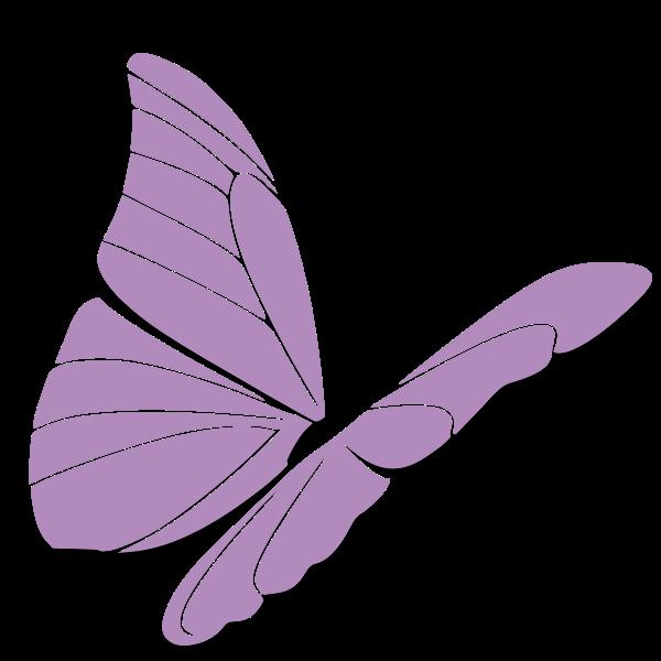 Violet butterfly vector clip art