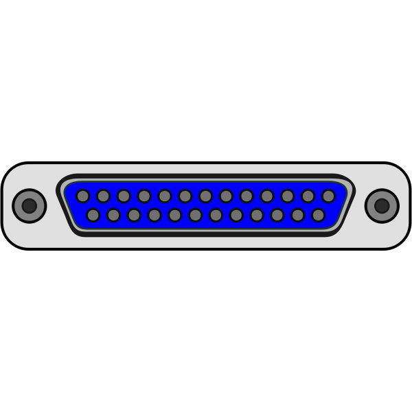 Parallel DB25 computer plug vector illustration