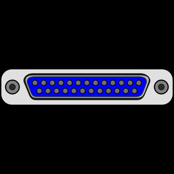 Parallel DB25 computer plug vector illustration