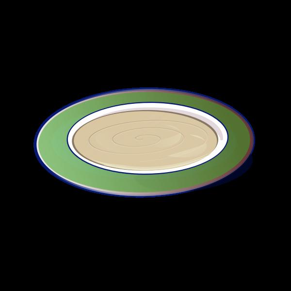 Hummus on a plate vector clip art