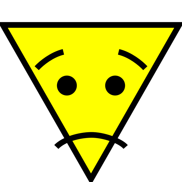 Confused triangle face icon vector image