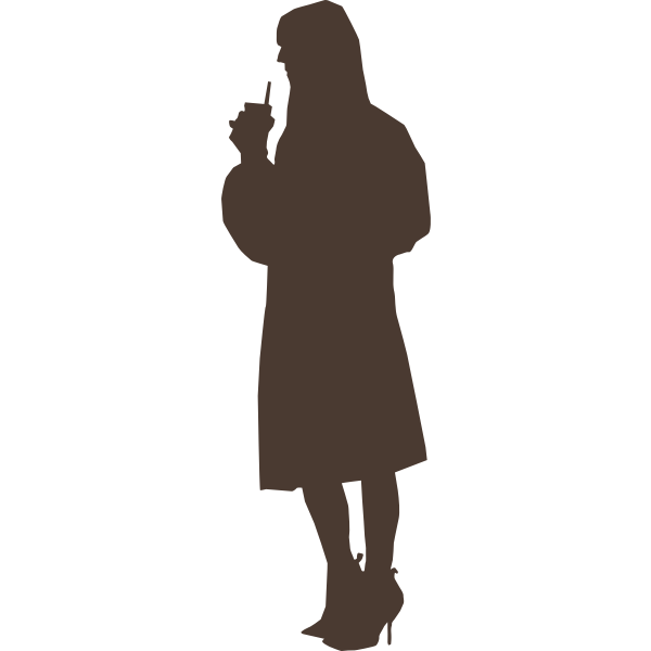 Party girl silhouette vector image