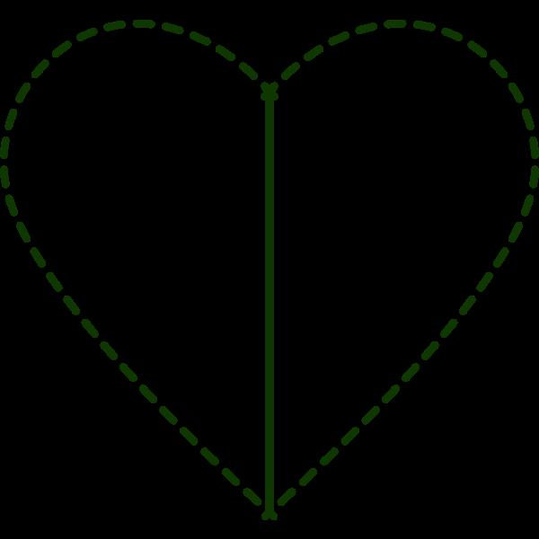 Patchwork heart vector clip art