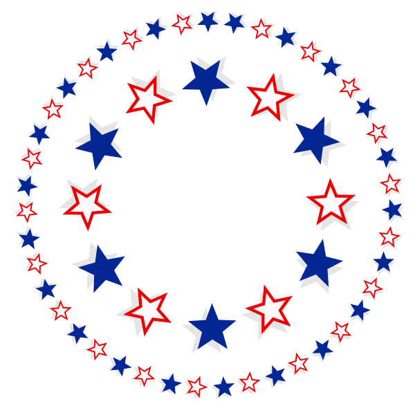 Patriotic Stars Free Svg