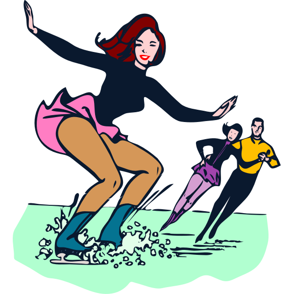 Vector image of ice-skating competition