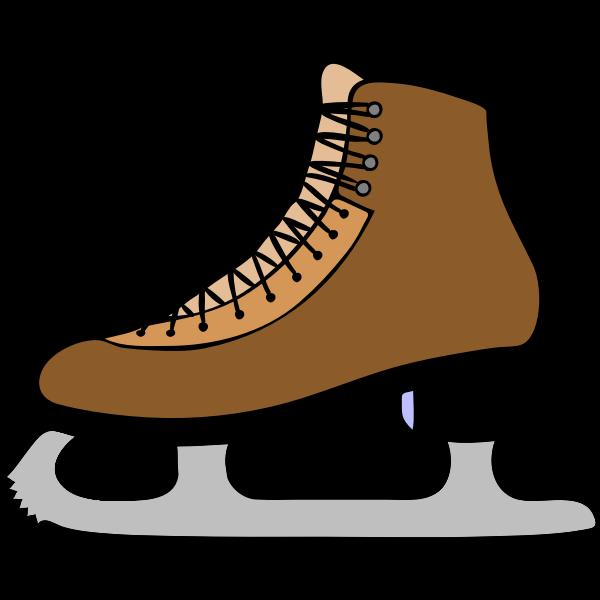 Vector graphics of skating boot
