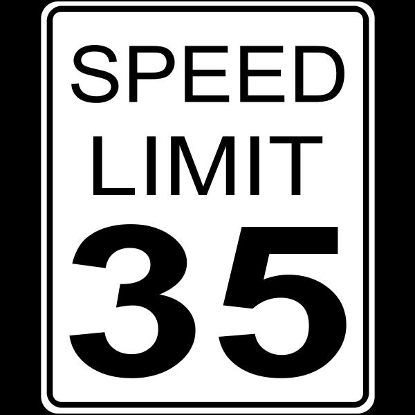 Speed limit 35 roadsign vector image