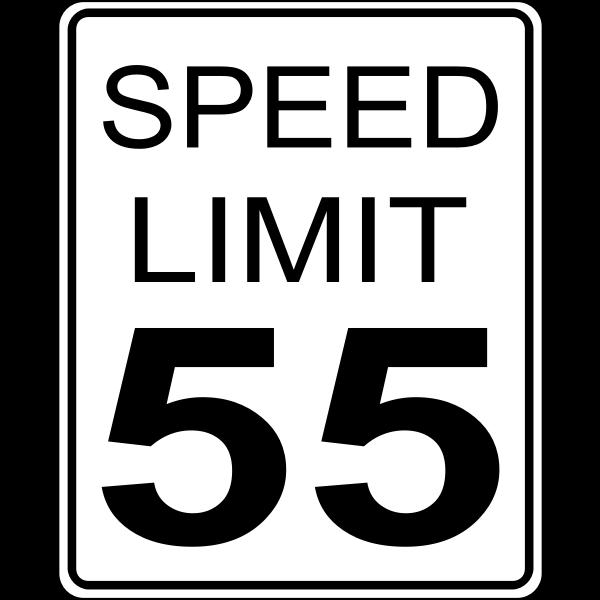 Speed limit 55 roadsign vector image
