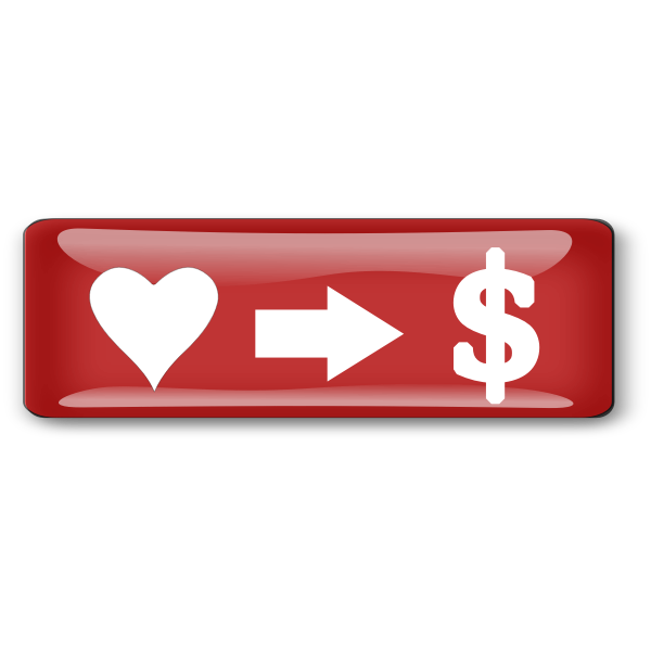 Pay button vector image
