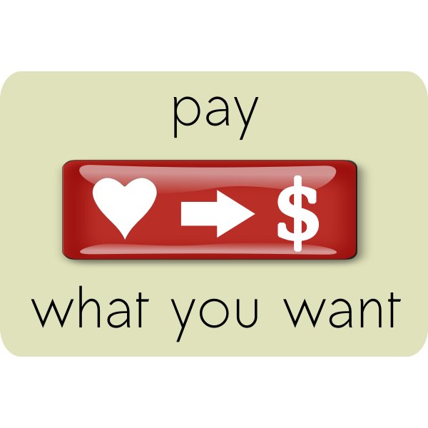 Pay What You Want Design Element