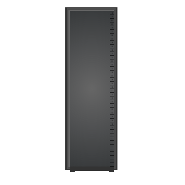 Server cabinet vector clip art
