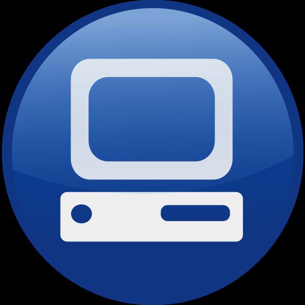 PC vector icon image