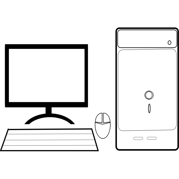 Personal computer configuration vector illustration