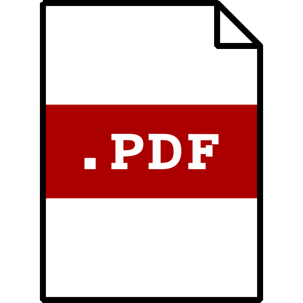 Vector drawing of pdf file type computer icon
