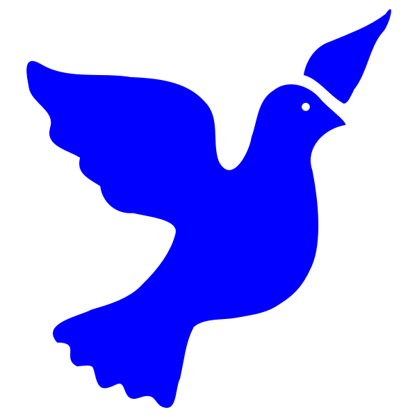 Flying dove silhouette vector graphics