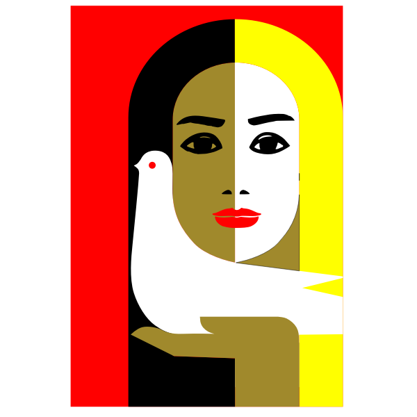 Vector illustration of women for peace sign