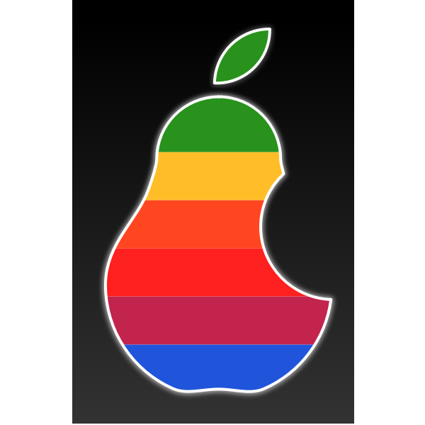 Vector clip art of multi color pear logo