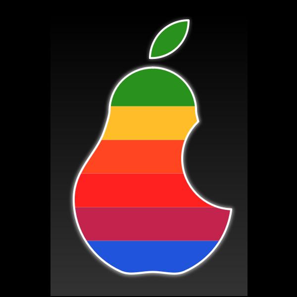 Vector clip art of multi color pear logo