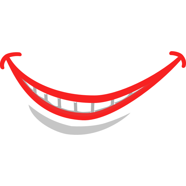 Smile lips vector image