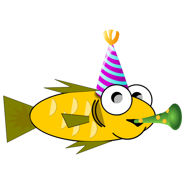 Party fish vector image