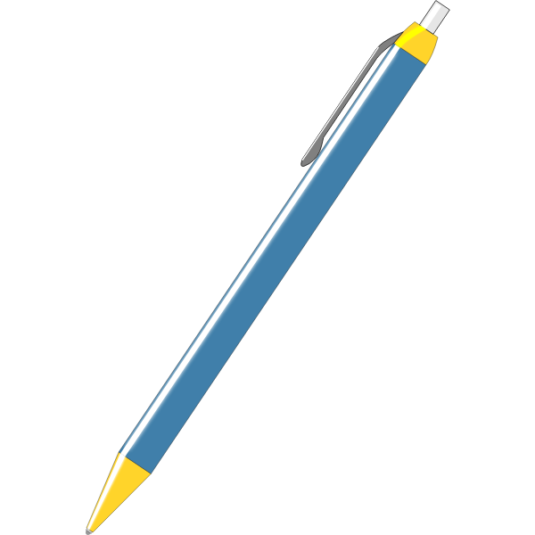 Blue pen vector drawing
