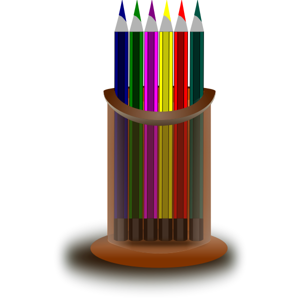Coloerd pencils stand vector image