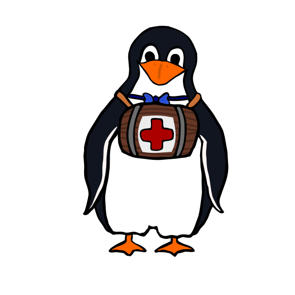 Vector image of a penguin