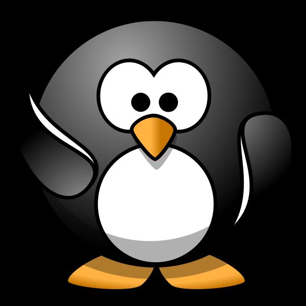 Waving penguin