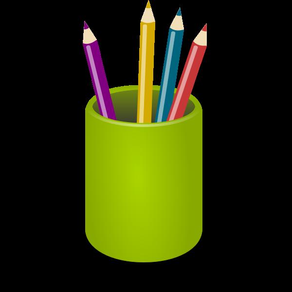 Coloerd pencils stand vector image
