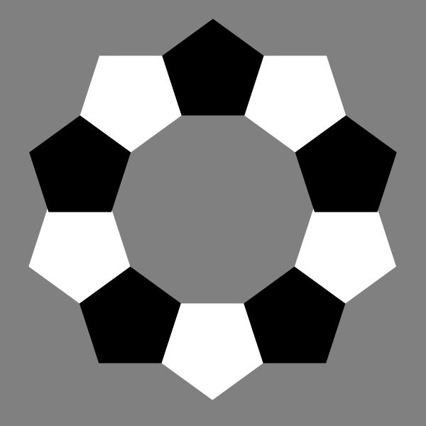 Pentagons decagram plain