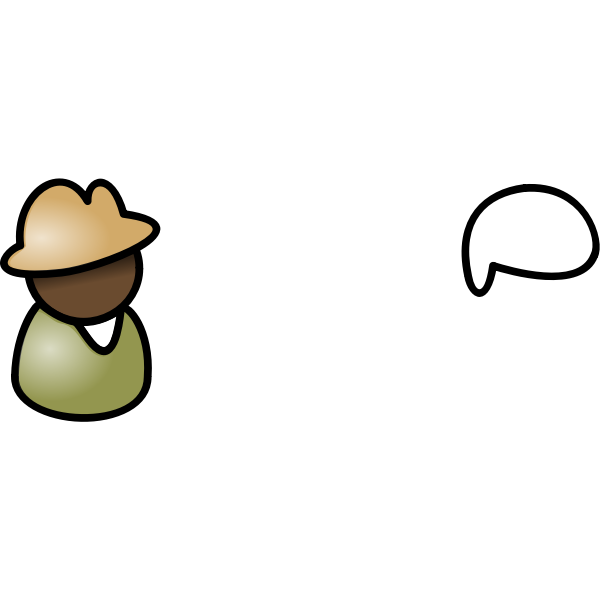 Vector graphics of brown shades guy user icon