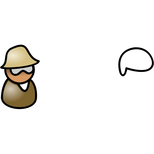 Vector clip art of guy with glasses and hat avatar