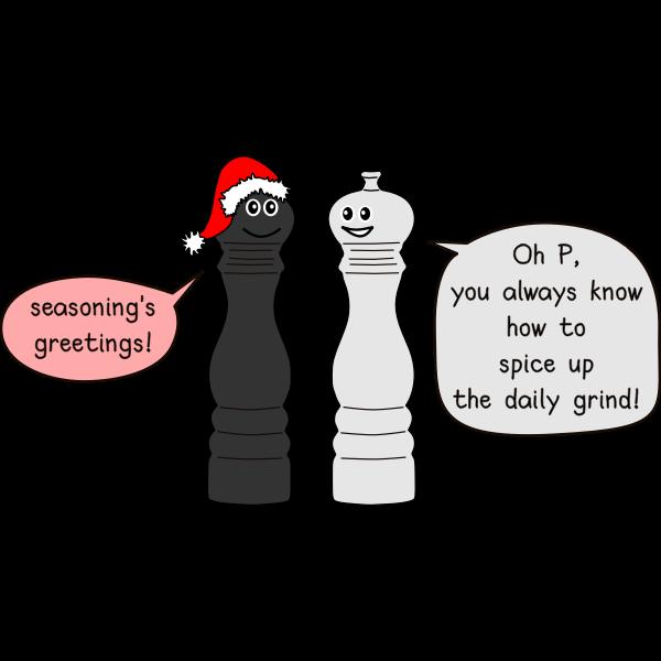 pepper and salt cartoon joke plain SVG