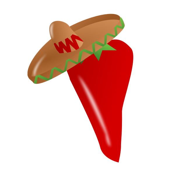 Pepper with sombrero vector image