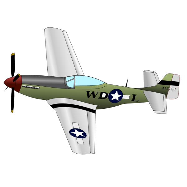 P51 Mustang fighter plane vector image