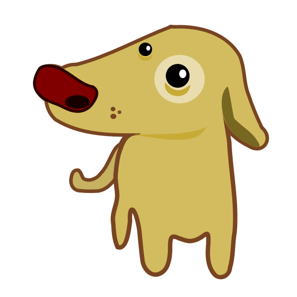 Cartoon vector image of a dog