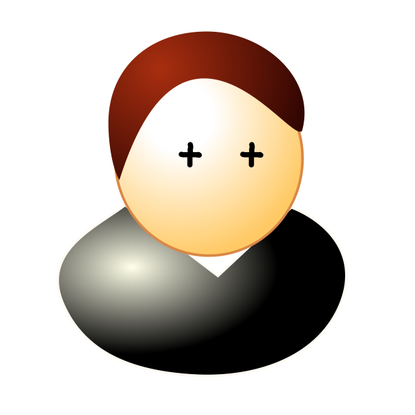 Vector image of male student avatar