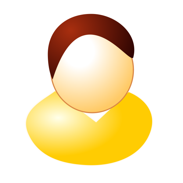 Yellow user avatar vector graphics