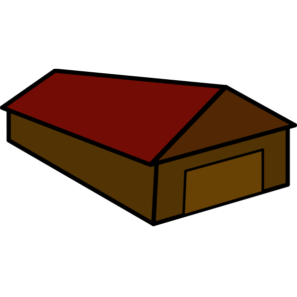 Cartoon vector image of a house