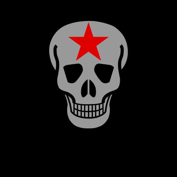 Skull with crossed guns