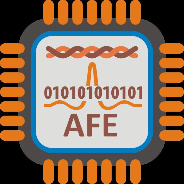 ADSL AFE microprocessor vector image