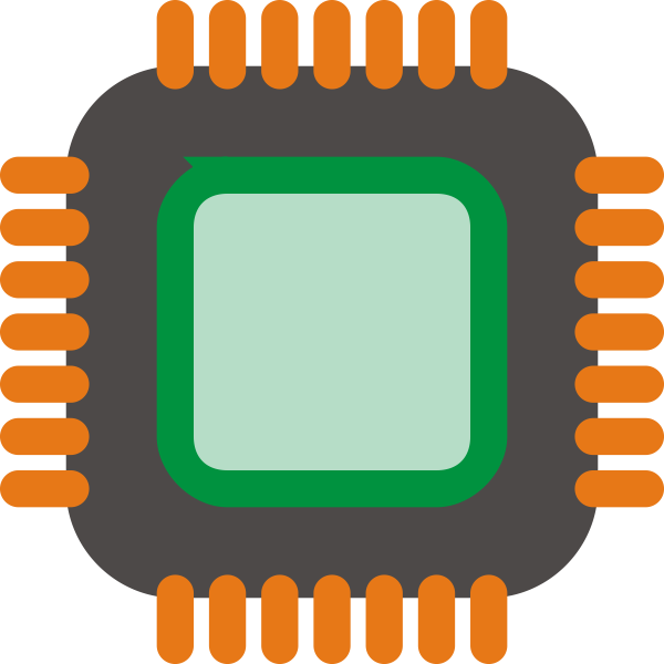 Generic computer chip vector image