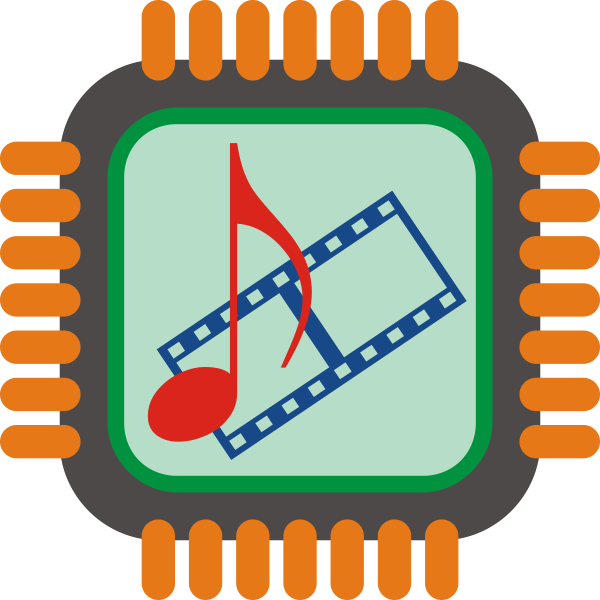 Vector illustration of stylized multimedia switch icon