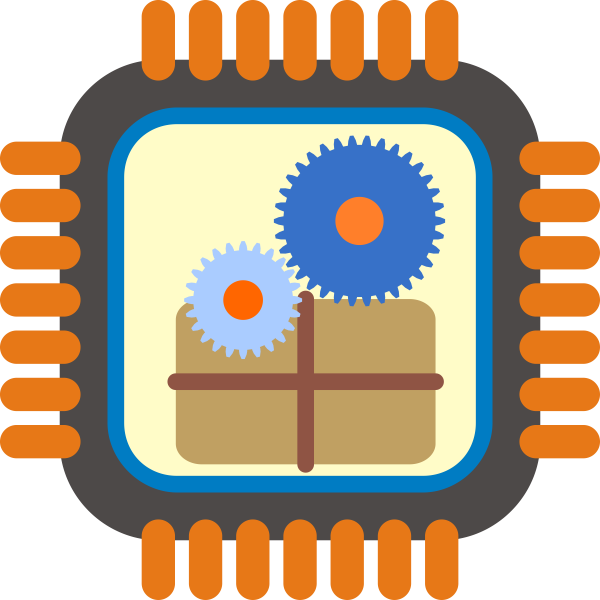 Vector image of stylized packet processor icon