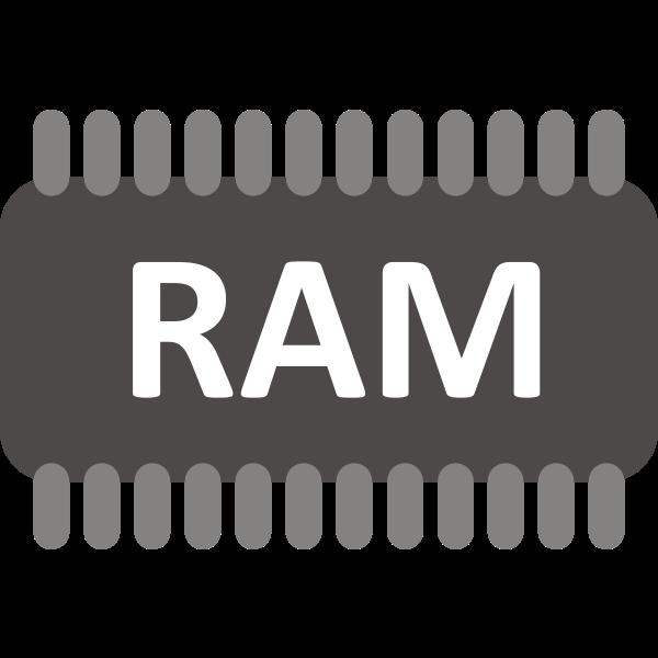 RAM memory chip vector image