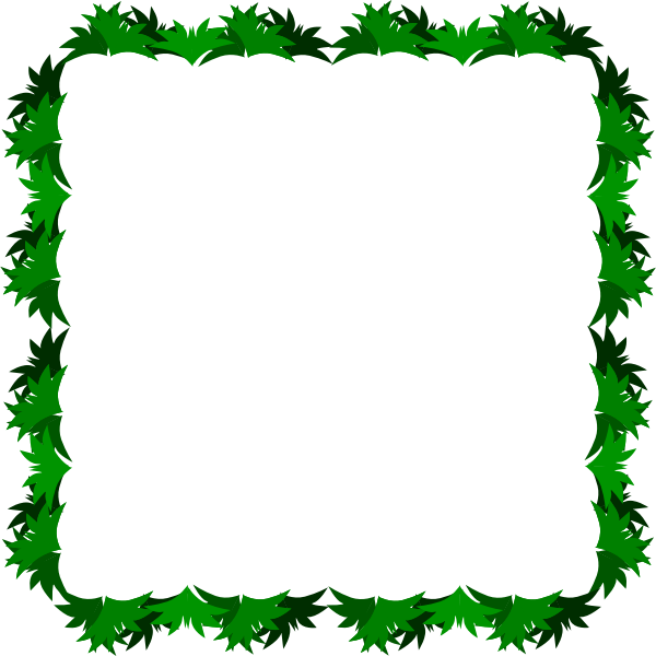 Vector clip art of grass decorated border