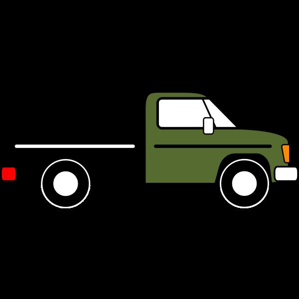 Pickup truck vector graphics